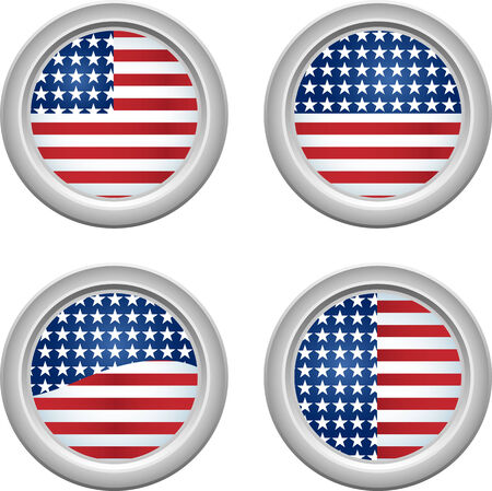 USA Stars and Stripes Buttons Fourth of July Stock Vector - 4995187