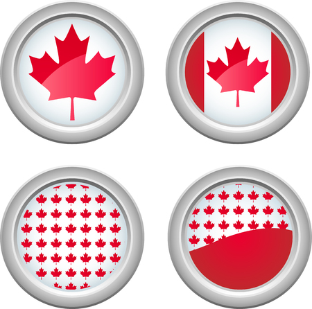 Canada Buttons for 1st of July Vector