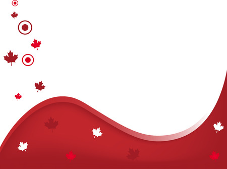 Canada Background First of July Vector