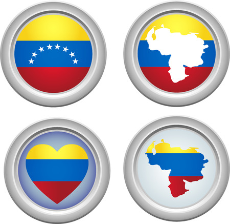 Venezuela Buttons for 5th of July Vector