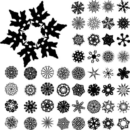 Set of 49 highly detailed complex ornaments Vector