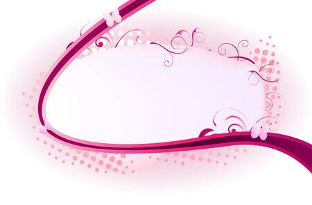 ornated: Bella cornice ornata con turbinii rosa e puntini