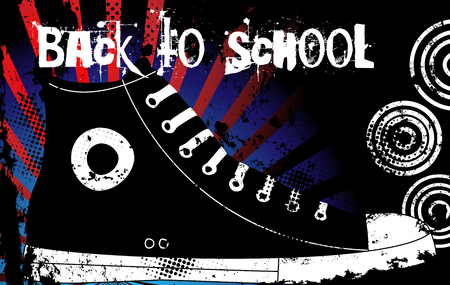 Back to School Sneaker  with United States of America Background Stock Vector - 5273244