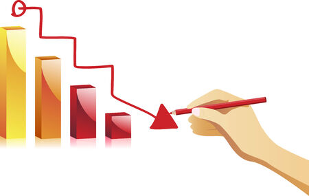 Hand drawing an chart. Vector Image Stock Vector - 5706418