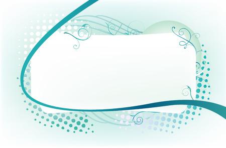 ornated: Bella cornice adornato con turbinii blu e punti