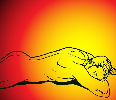 nude mann: Silhouette der Muskel-Boy on beautiful hot background