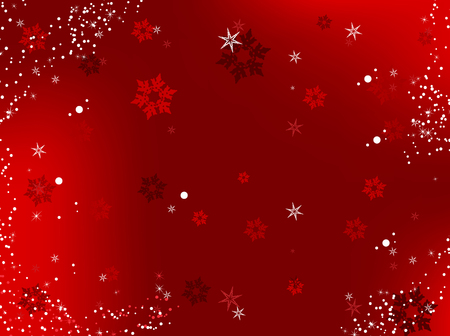 Merry Christmas Background with snowflakes and stars.Vector Image.