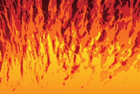 Abstract Flames Texture Background. Editable Vector Image Vector