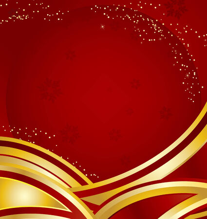 Merry Christmas Background with stars.Vector Image. Vector