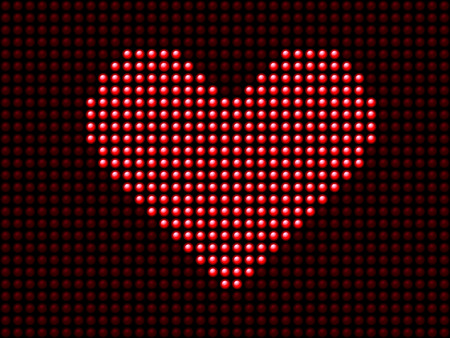 Valentines day love heart light panel. Editable Vector Image Vector