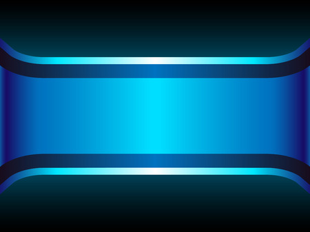 Blue Neon Background with Copyspace. Editable Illustration Vector