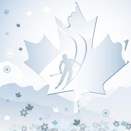 Canada Vancouver Winter Games 2010. Editable Vector Illustration Vector