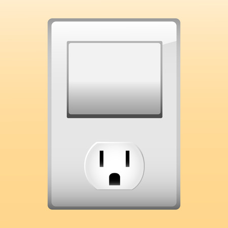 Electric outlet and light switch. Stock Vector - 6502563