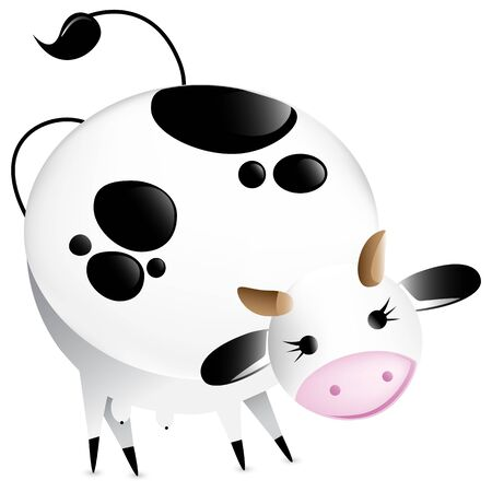 Cute vector glossy cow. Editable Vector Illustration illustration
