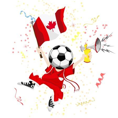 Canada Soccer Fan with Ball Head.