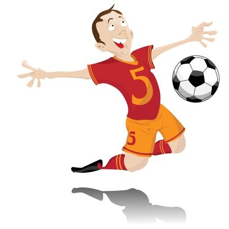 Soccer Player Celebrating Goal.