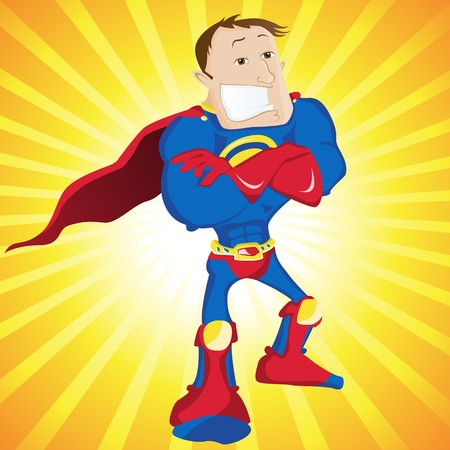 super guy: Super Man Hero Dad.  Illustration