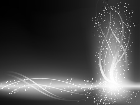 glitters: Black and White Glowing Lines Background. Editable Illustration. You can color it as you want.