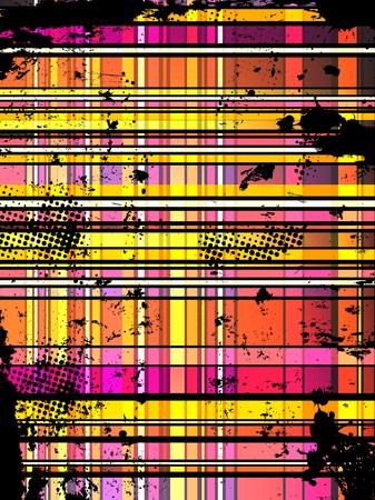 pink cell: Fondo de grunge colorida a cuadros.  Vectores