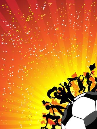 Enorme multitud celebrando Soccer Game. Imágenes editables Foto de archivo - 7006433