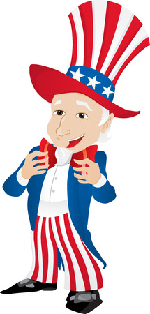Uncle Sam United States of America.  Vector