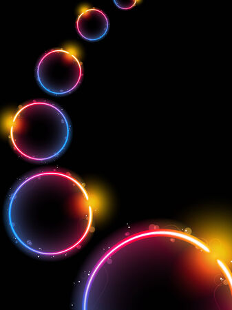 Rainbow Circle Background with Sparkles and Swirls. Editable Vector Illustration Stock Vector - 7255028