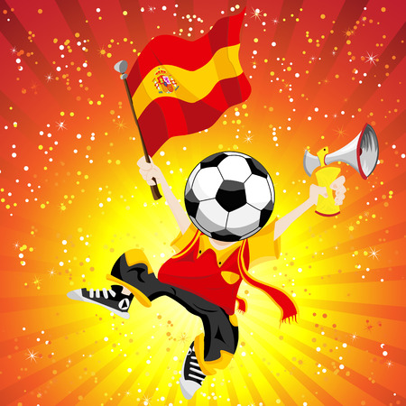 Spain Soccer Winner. Editable Vector Illustration Vector