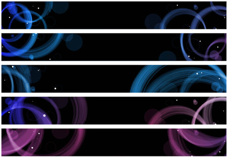 web header: Abstract colorful circles web banners.  Illustration