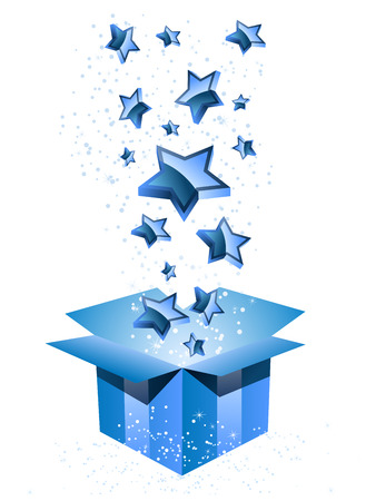 open day: Gift Box Blue with Stars.