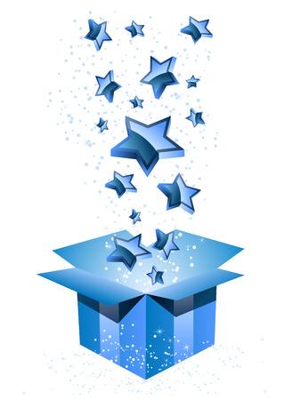 blue stars: Gift Box Blue with Stars.