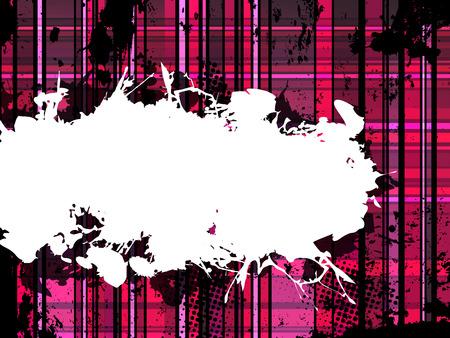 Checkered Pink Grunge Background Vector