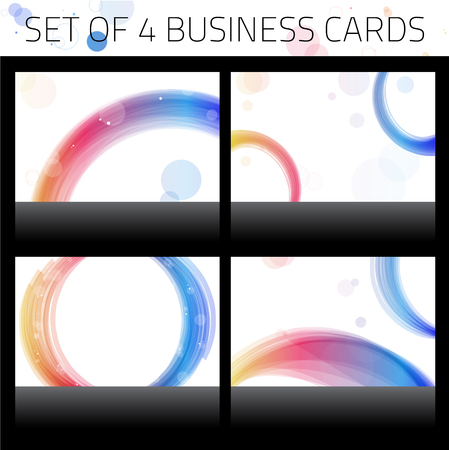 Business Cards Set. Colorful Circles. Vector