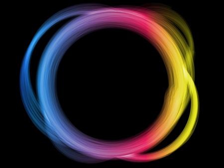Rainbow Circle Border Stock Vector - 7428378