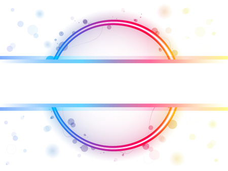 Rainbow Circle Border with Sparkles and Swirls Vector