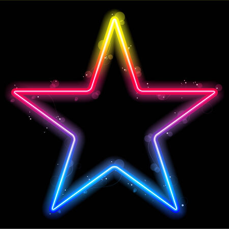 Rainbow Star Border with Sparkles and Swirls Vector