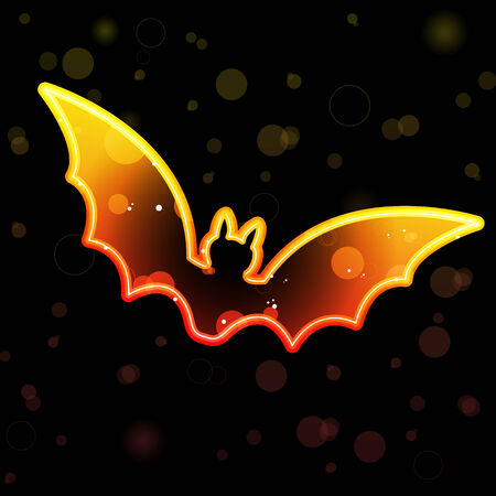 Orange Transparent Bat for Halloween Stock Vector - 7474257