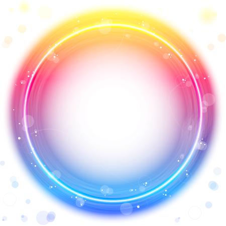 kreis: Red Circle Border mit Sparkles und Strudel.  Illustration