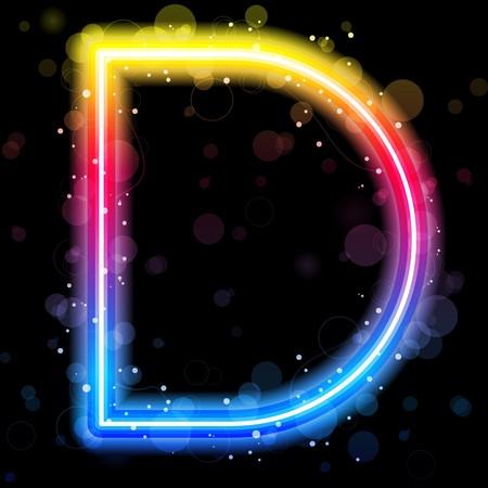 Alphabet Rainbow Lights  Glitter with Sparkles Ilustracja