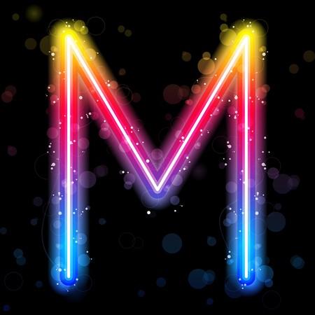 Alphabet Rainbow Lights  Glitter with Sparkles Stock Vector - 7603608