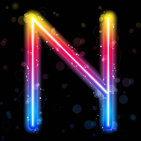 Alphabet Rainbow Lights  Glitter with Sparkles Иллюстрация