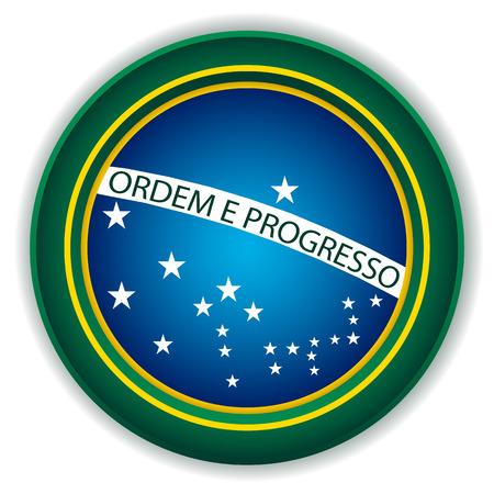Brazil Button Flag Vector