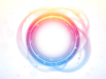 Rainbow Circle Border Brush Effect. Stock Vector - 7603631