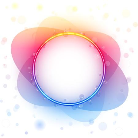 Rainbow Circle Border Transparency Effect. Vector