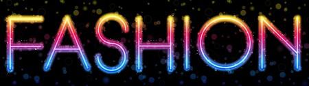 Fashion Rainbow Lights  Glitter with Sparkles Vector