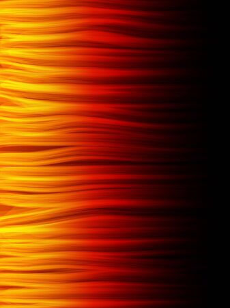 abstract danger: Realistic Fire Flames. Color and forms are editable. Illustration