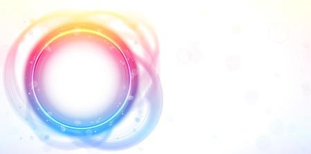 Rainbow Circle Border Frame Brush Effect.