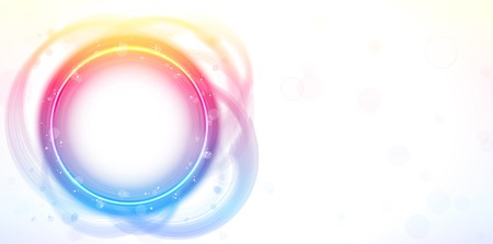 Rainbow Circle Border Frame Brush Effect.