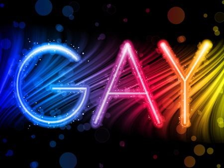gay:  Gay Pride abstrakt Colorful Wellen auf schwarzem Hintergrund Illustration