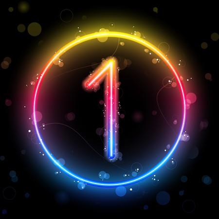 number one:   N�meros de arco iris de luces Escarcha con Sparkles