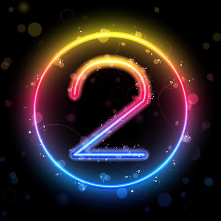neon party:  Numeri luci rainbow glitter con sparkles